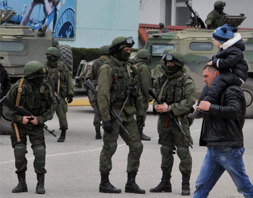 Rosyjskie wojsko w okolicach Sewastopola /AFP
