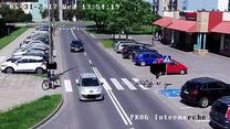 Rowerzysta wjechał pod samochód