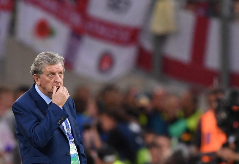 Roy Hodgson podczas meczu z Rosją na Stade Velodrome /PAP/EPA