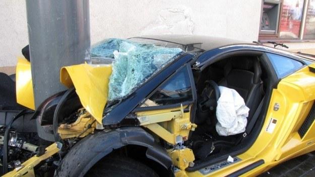 Rozbite Lamborghini Gallardo /RMF