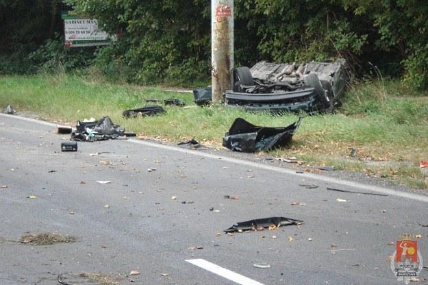 Rozbity samochód /Policja