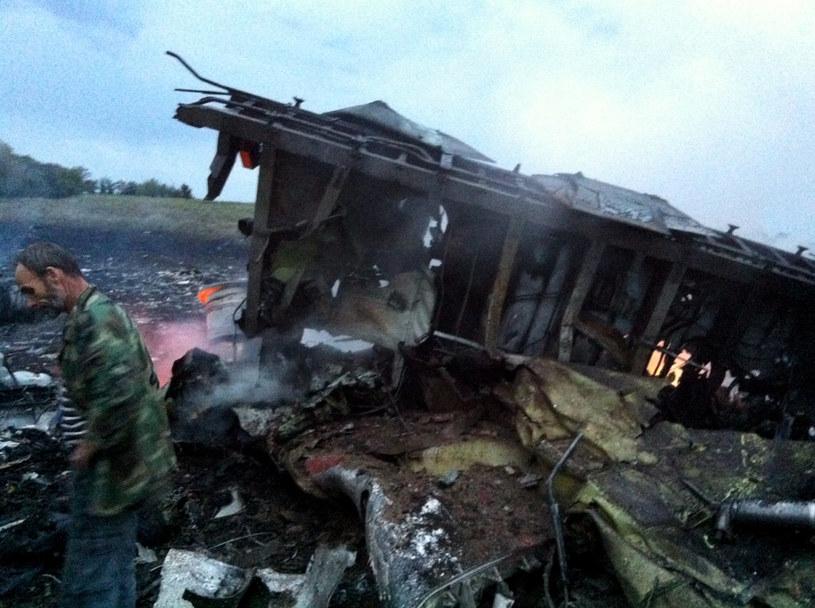 Rozbity samolot malezysjkich linii lotniczych /AFP