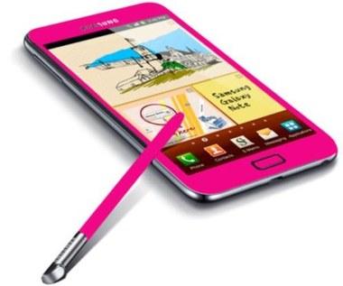 Różowy Samsung Galaxy Note