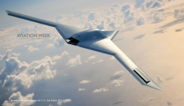 RQ-180 - wizualizacja.   Fot. Aviation Week & Space Technology /materiały prasowe