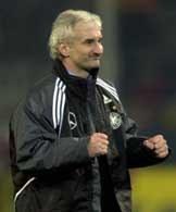 Rudi Voller mógł miał powody do zadowolenia po wysokiej wygranej nad Ukrainą