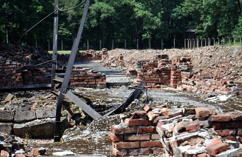 Ruiny krematorium nr 5 w Birkenau gdzie zgładzono ponad 2 tys. Romów /M. Lasyk /Reporter