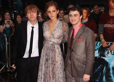 Rupert Grint, Emma Watson, Daniel Radcliffe - fot. Tim Whitby /Getty Images/Flash Press Media