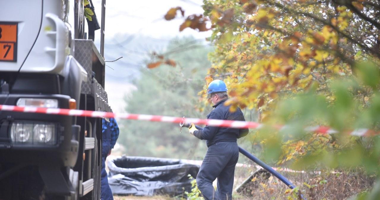 Rurociąg uszkodzony z powodu nielegalnego odwiertu
