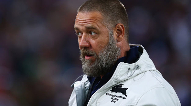 Russell Crowe na meczu rugby: Kobiety odchodzą, broda rośnie... - fot. Mark Kolbe /Getty Images/Flash Press Media
