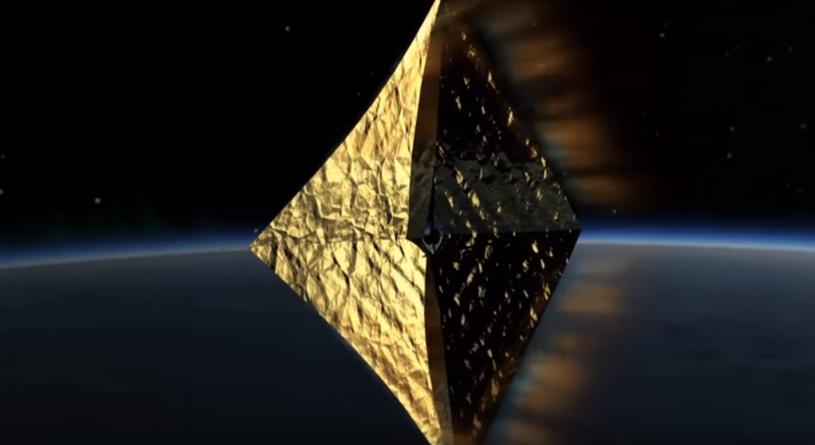 Ruszyły prace nad pierwszą powłoką żagla słonecznego PW-Sat 2 /YouTube