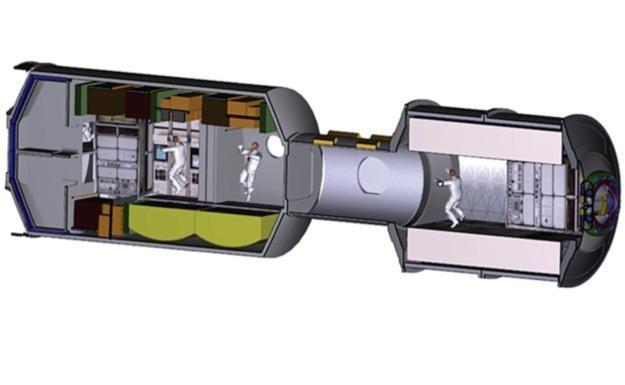 Rycina przedstawiająca wnętrze statku. /NASA