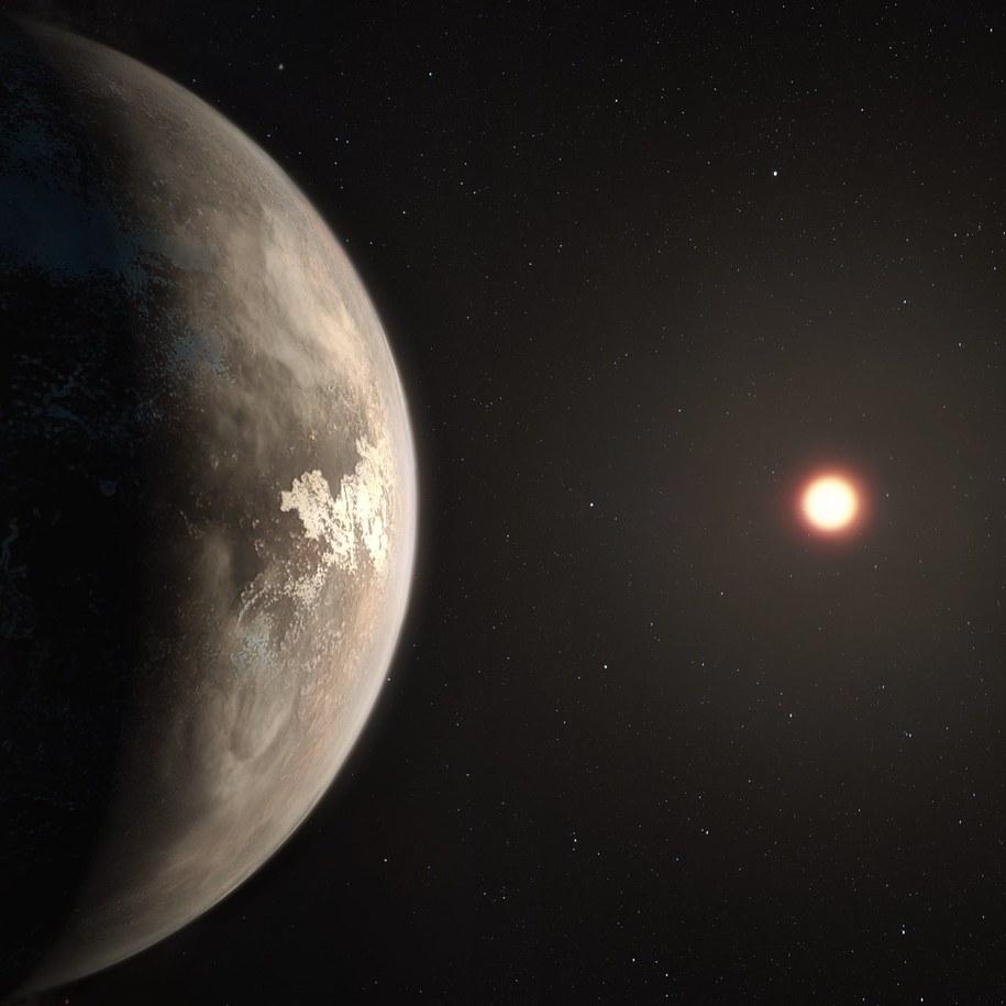 """Rysunek bliskiej nam """"ziemskiej"""" planety /ESO/M. Kornmesser /Materiały prasowe"""