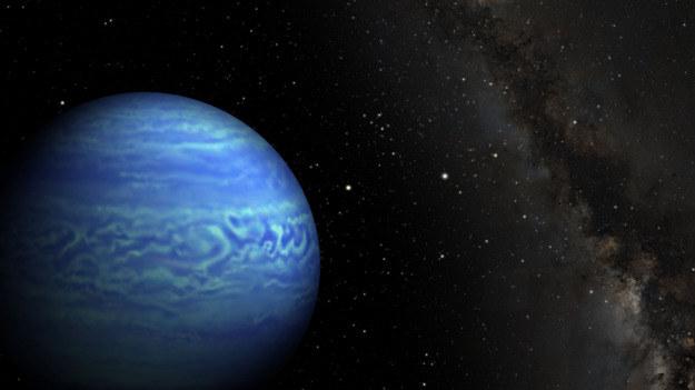 Rysunek brązowego karła WISE J085510.83-071442.5, tuż obok na prawo Słońce Źrodło: Robert Hurt/JPL, Janella Williams/Penn State University /materiały prasowe