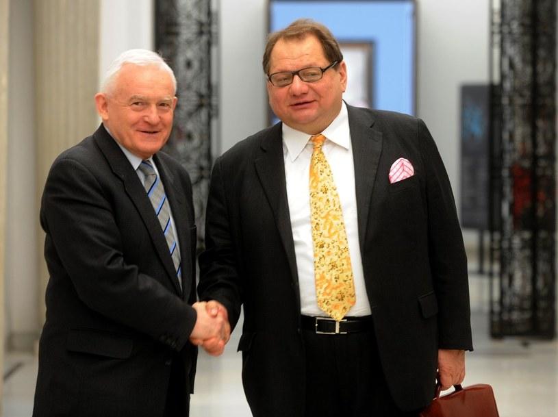 Ryszard Kalisz i Leszek Miller /Witold Rozbicki /Reporter