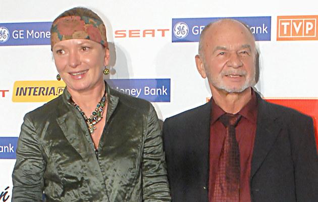 Ryszard Kotys z żoną, fot.Paweł Przybyszewski  /MWMedia