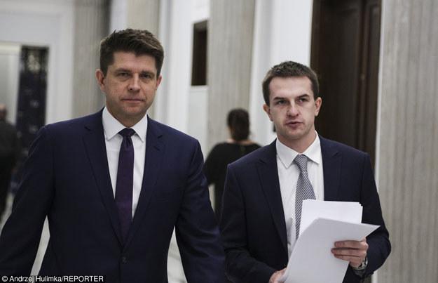 Ryszard Petru i Adam Szłapka /Reporter