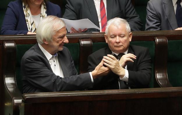 Ryszard Terlecki i Jarosław Kaczyński /Bartłomiej Zborowski /PAP