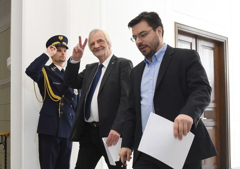 Ryszard Terlecki i Stanisław Tyszka /Radek Pietruszka /PAP