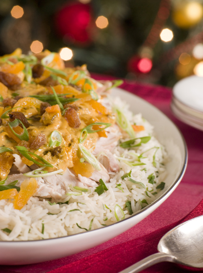 Ryż z indykiem i mandarynkami /© Photogenica/Glow Images
