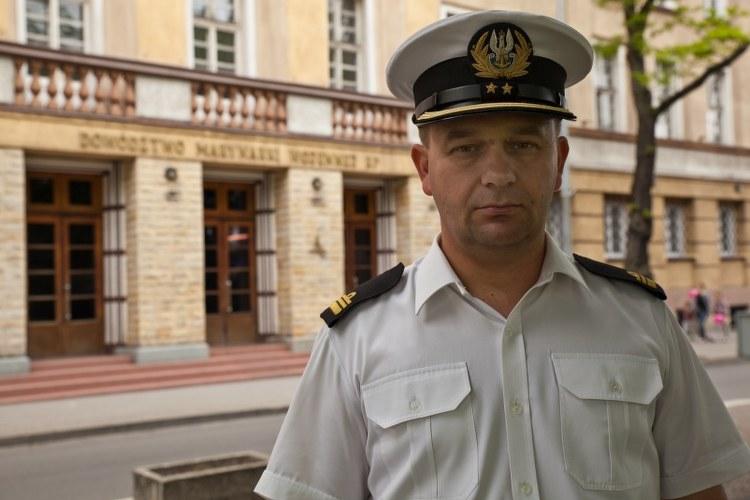 Rzecznik dowódcy Marynarki Wojennej Bartosz Zajda /Dariusz Proniewicz /RMF FM