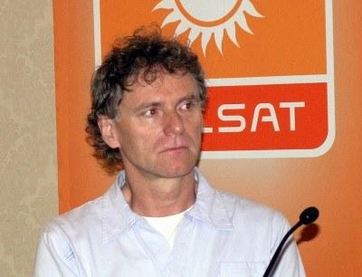 Rzecznik koncertu Roman Rogowiecki na konferencji prasowej /INTERIA.PL
