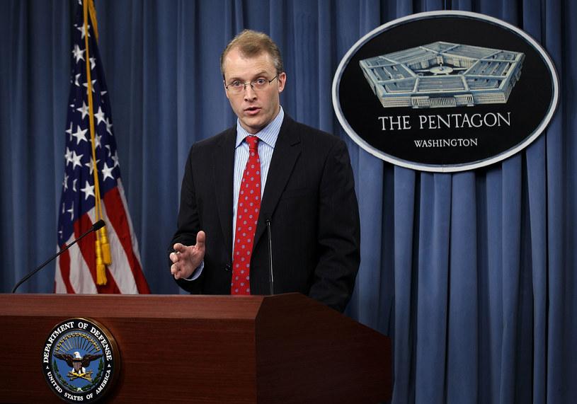Rzecznik Pentagonu George Little /AFP