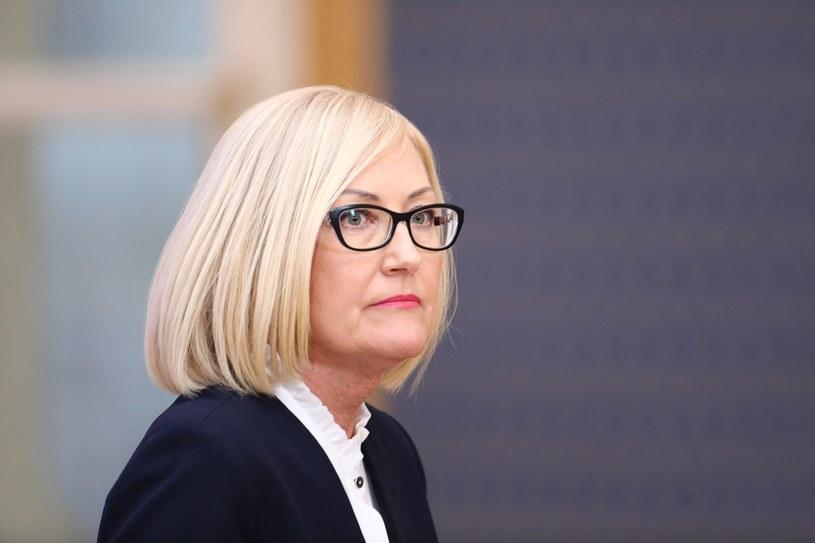 Rzecznik rządu Joanna Kopcińska /STANISLAW KOWALCZUK /East News