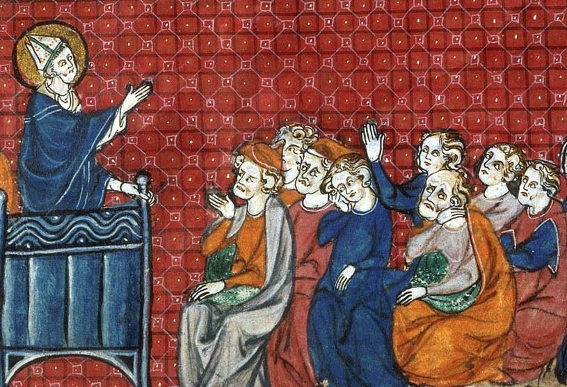 Rzucając swoją klątwę Gaudenty bez wątpienia zadbał, aby w katedrze pojawili się najbardziej wpływowi ludzie w państwie pierwszych Piastów (źródło: domena publiczna). /Ciekawostki Historyczne