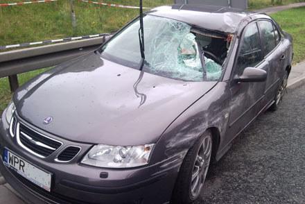 Saab po wypadku /