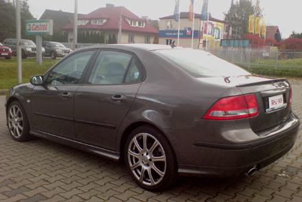 Saab przed wypadkiem /