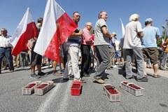 """Sadownicy protestują. Zablokowali krajową """"19"""""""