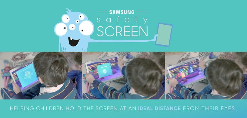 Safety Screen ma pilnować, aby dzieci znajdowały się w odpowiedniej odległości od ekranu /materiały prasowe