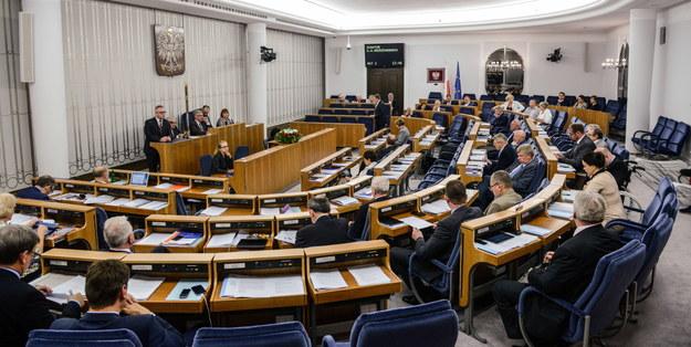 Sala obrad Senatu /Jakub Kamiński   /PAP
