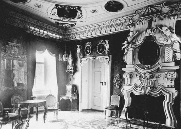 Sala pałacowa w stylu barokowym - rok 1940 /Odkrywca