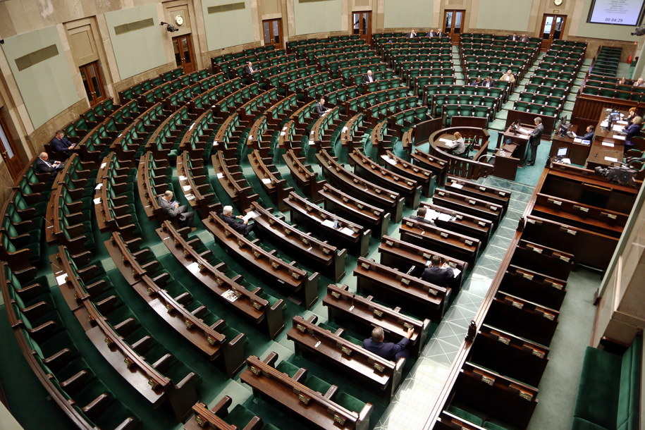 Sala plenarna Sejmu /Tomasz Gzell /PAP