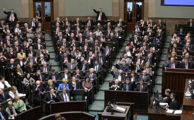 Sala sejmowa /Bartłomiej Zborowski /PAP