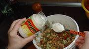 Sałatka z cieciorką, marchewką, koperkiem i majonezem;-)