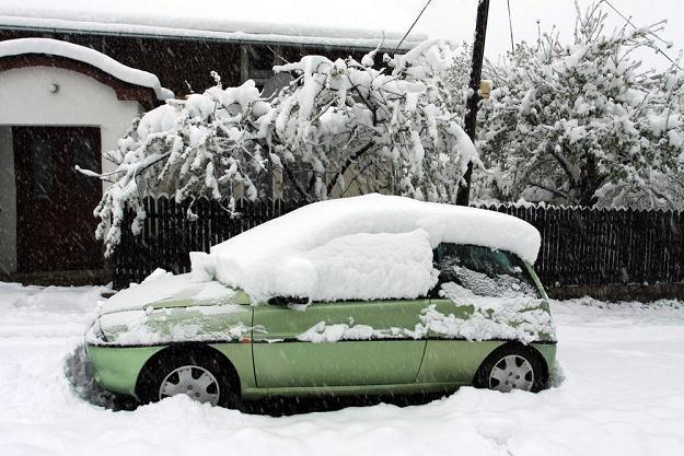 Samochód należy cały odśnieżyć / Fot: Piotr Zając /Reporter