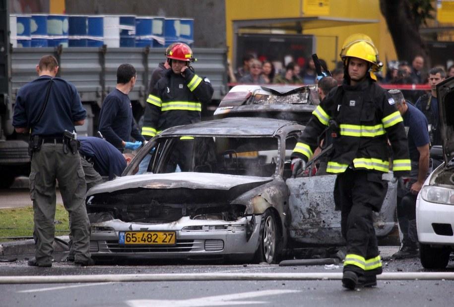 Samochód prawdopodobnie należał do Nissima Alperona, szefa grupy przestępczej /GIDEON MARKOWICZ (PAP/EPA) /PAP/EPA