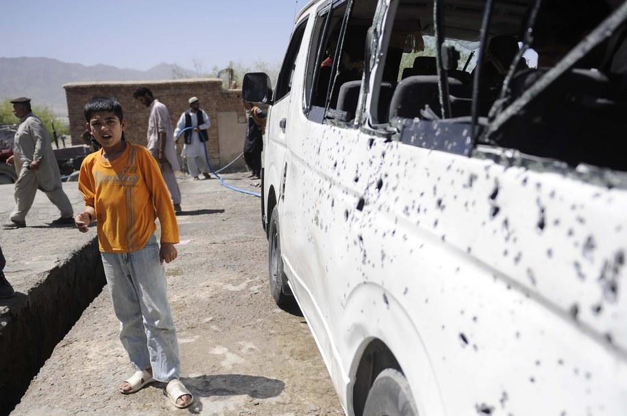 Samochód pułapka, który eksplodował /JAWAD JALALI /PAP/EPA