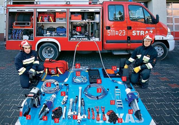 Samochód ratowniczy musi być wyposażony w zróżnicowany ekwipunek. Każda akcja może wymagać innego sprzętu. /Motor