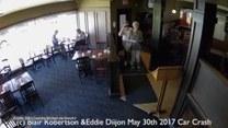 Samochód staranował witrynę i wpadł do restauracji. Klienci cudem uszli z życiem