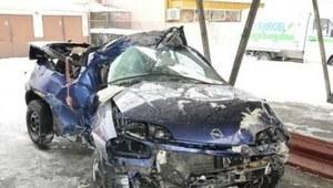 Samochód uderzył w drzewo. Dwie osoby zginęły