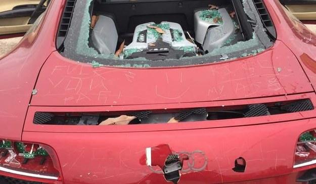 Samochód został doszczęstnie zniszczony /