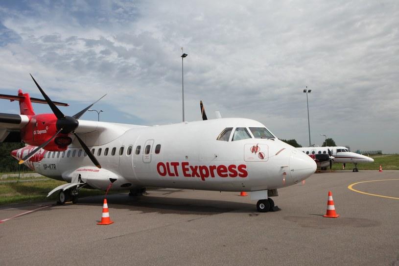 Samolot linii OLT Express /Tomasz Radzik /Agencja SE/East News