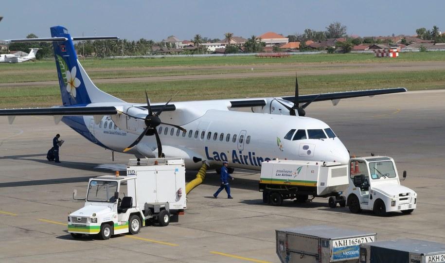 Samolot należał do linii  Lao Airlines /BARBARA WALTON /PAP/EPA