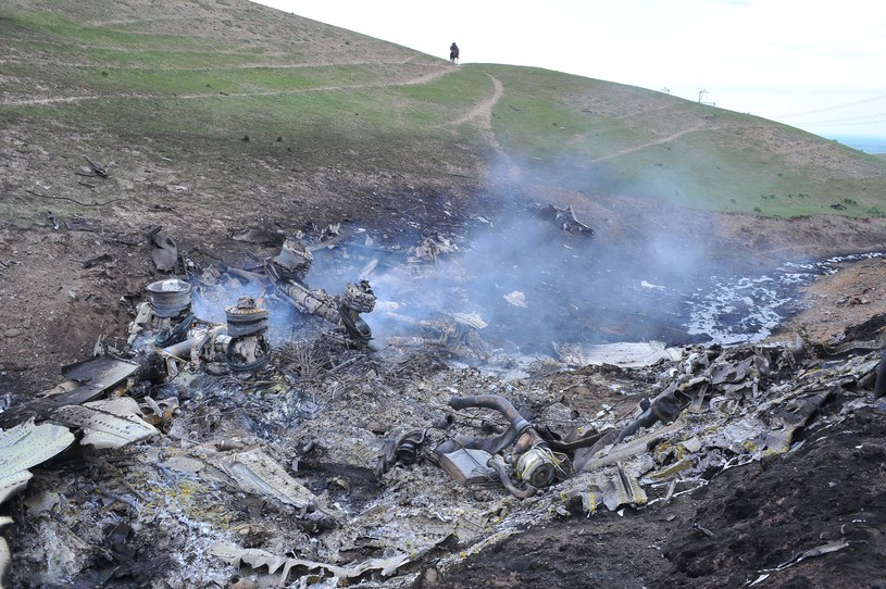 Samolot rozbił się kilka minut po starcie z bazy w Manas /AFP