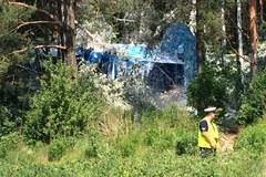 Samolot rozbił się w Olsztynie. Pilot i pasażer ranni