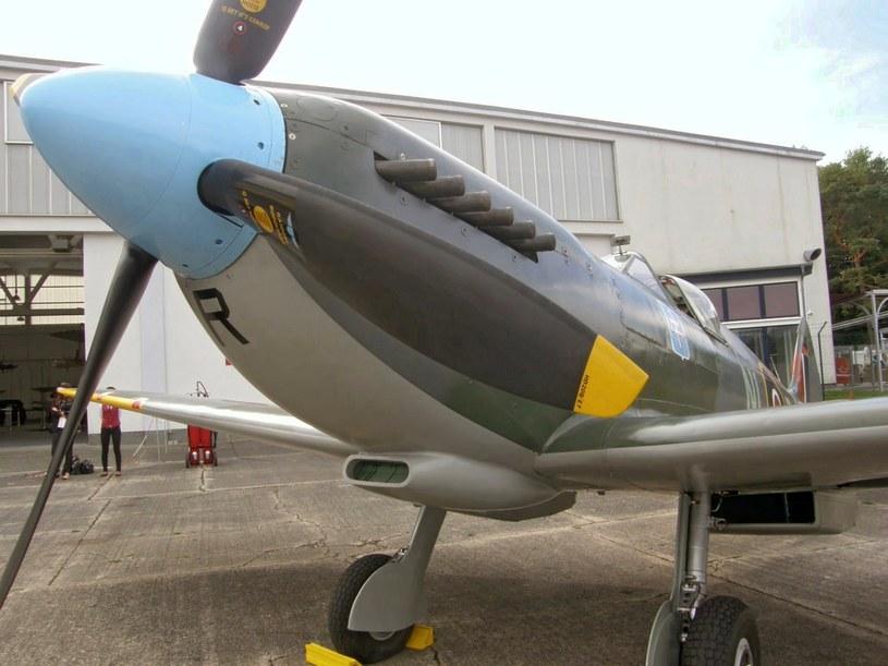Samolot Supermarine Spitfire w muzeum lotnictwa w Herringsdorfie /Aneta Łuczkowska /RMF FM