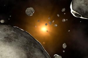 Samotna gwiazda rzuci w stronę Ziemi deszcz asteroidów